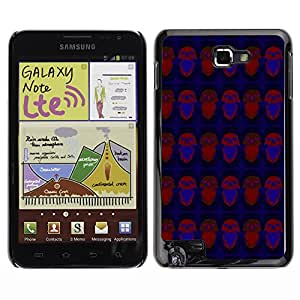 ZECASE Funda Carcasa Tapa Case Cover Para Samsung Galaxy Note I9220 No.0002186