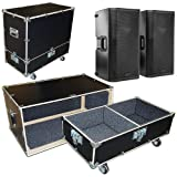 Speakers Monitors Road Case Kit Fits 2 QSC K12 Speakers with 2 Compartments 15x15x24 High
