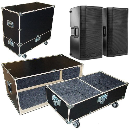 Speakers Monitors Road Case Kit Fits 2 QSC K12 Speakers with 2 Compartments 15x15x24 High by Roadie Products, Inc.