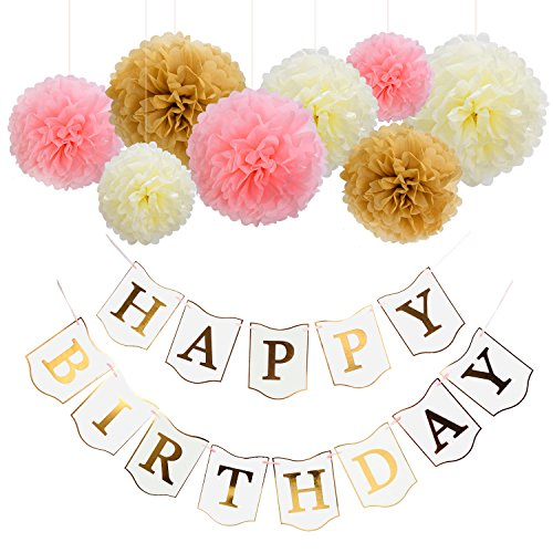 Mudder Birthday Banner Flowers Decorations