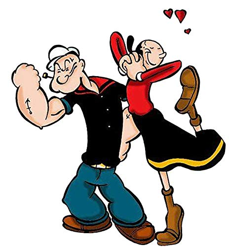Popeye & Olive OYL Iron On Transfer for T-Shirts & Other Light Color Fabrics #1 -