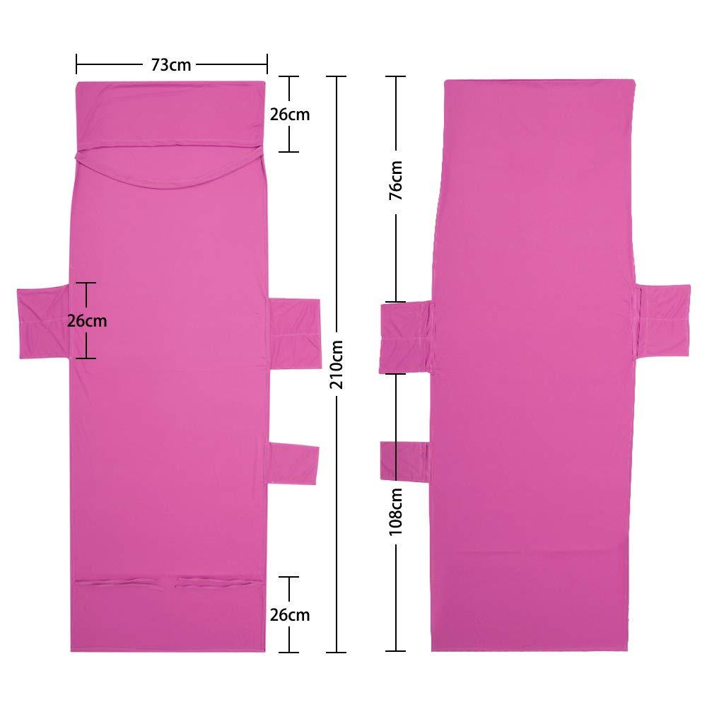 OurLeeme Sun Lounger Towel Sun Lounger Beach Mat Silla de Playa Cubierta de Toalla Plegable 210x75cm con Bolsillo Lateral Rosado