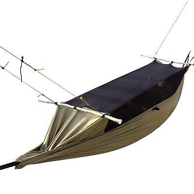 1 Personne Hamac De Camping Avec Filet À Moustique 300D Polyester Matériau Imperméable Pour Camping
