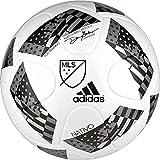 adidas Performance 2016 NFHS MLS Top Training Soccer Ball, White/Black/Iron Metallic, 4