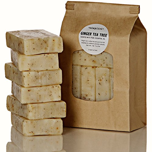 SIMPLICI-Ginger-Tea-Tree-bar-soap-Value-Bag-6-Bars