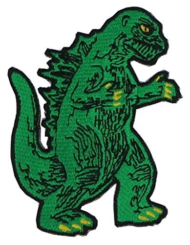 Godzilla Patch applique patch embroidered iron on (Mirror Embroidered)