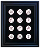 Black Casino Chip Display Frame with 12 Chinese New Year Poker Chips (Included)