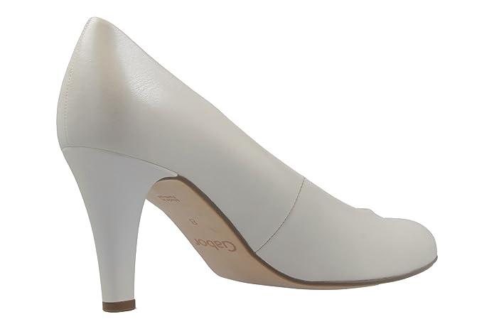 GABOR Weiß Schuhe in Übergrößen 65.210 Damen Pumps Schuhe