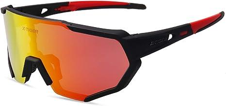 X-TIGER Gafas Ciclismo CE Certificación Polarizadas con 3 Lentes ...