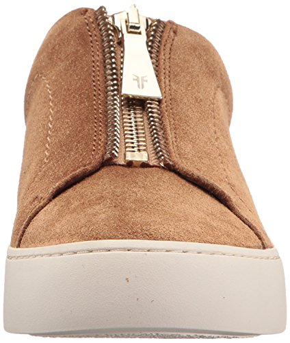 Frye Women's Lena Zip Low Fashion Sneaker Tan Soft Oiled Suede 2014 new for sale a64Gue