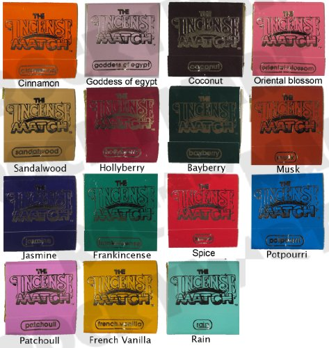 *Set of 15* Books of Incense Matches - One of each of the 15 Fragrances (Spice Incense Coconut)