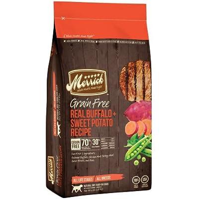 Merrick Grain Free Real Buffalo & Sweet Potato Dog Food (4 lbs)