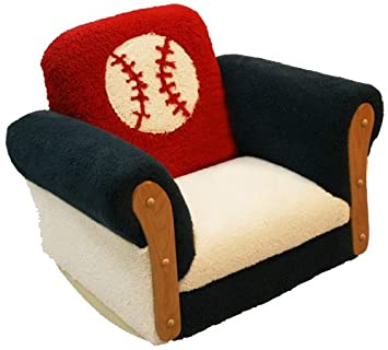 Charmant Newco Kids Toddler Deluxe Rocking Chair, Baseball