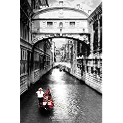 Ponte dei Sospiri Bridge of Sighs Black and White Photo Art Print Poster 24x36