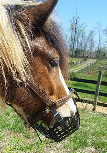 GREENGUARD Grazing Muzzle, size 5 Horse, Black