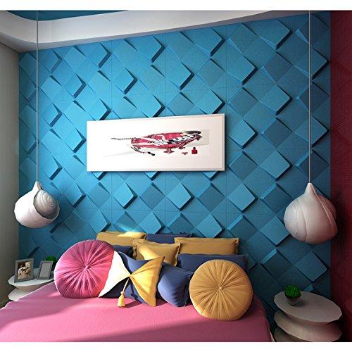 3D Wall Panels Plant Fiber Space Design (10 Panels Per Box) by MVinci Trade Ltd