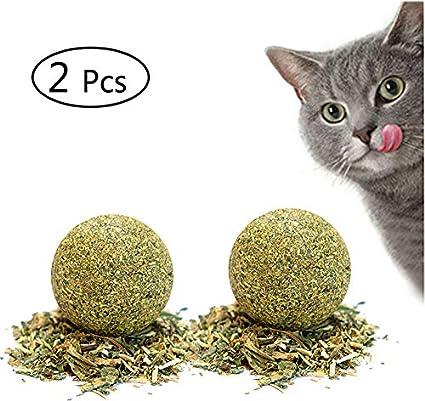 Umiwe Catnip Juguetes Gatos Bola Matatabi Juguete Masticar Gatito De Mascotas Limpieza Dientes Saludable Cuidado De