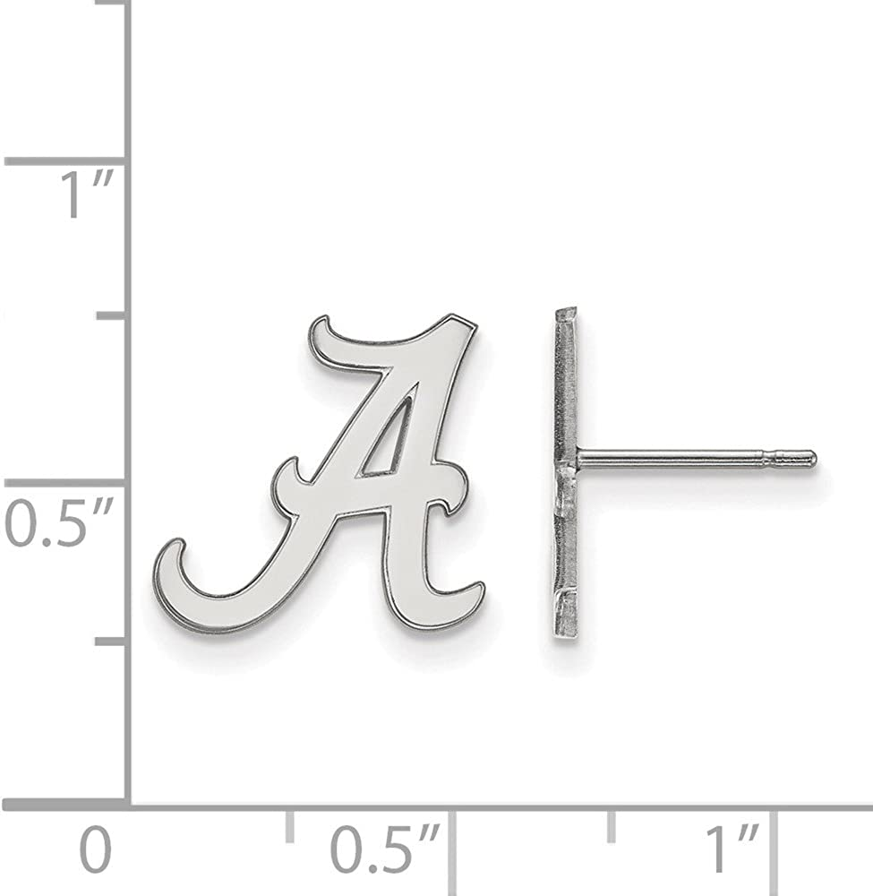 Collegiate University of Alabama Sterling Silver LogoArt University of Alabama Small Post Earrings
