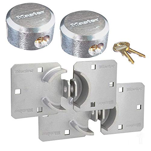 Master Lock Hasp / Hidden Shackle Keyed Alike Padlocks 770 - 6271KA-2
