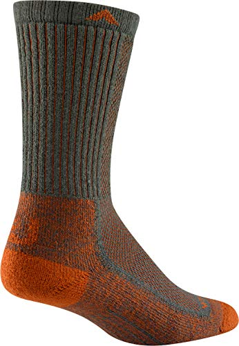 Wigwam Cool-Lite Hiker Crew F6067 Sock, Charcoal/Orange - ()