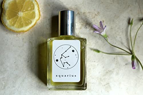 AQUARIUS Handmade Zodiac Inspired Fragrance- balancing mixture~Green Tea, Bergamot, Neroli, Cardamom