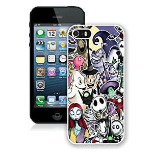 Hot Sale iPhone 5 5S Screen Case ,Nightmare Before Christmas White iPhone 5 5S Cover Unique And Popular Designed Phone Case