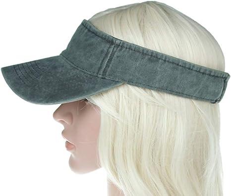 POIUIU Visera Sombrero De Visera para Mujer De Verano Sombrero De ...