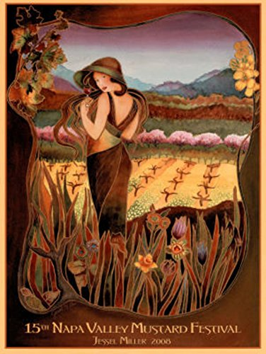 2008 Napa Valley Mustard Festival Mini Poster Print by Jessel Miller