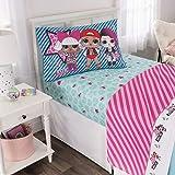 L.O.L. Surprise! Kids Bedding Soft Microfiber Sheet Set, Blue Pink-Twin Size 3 Piece Pack