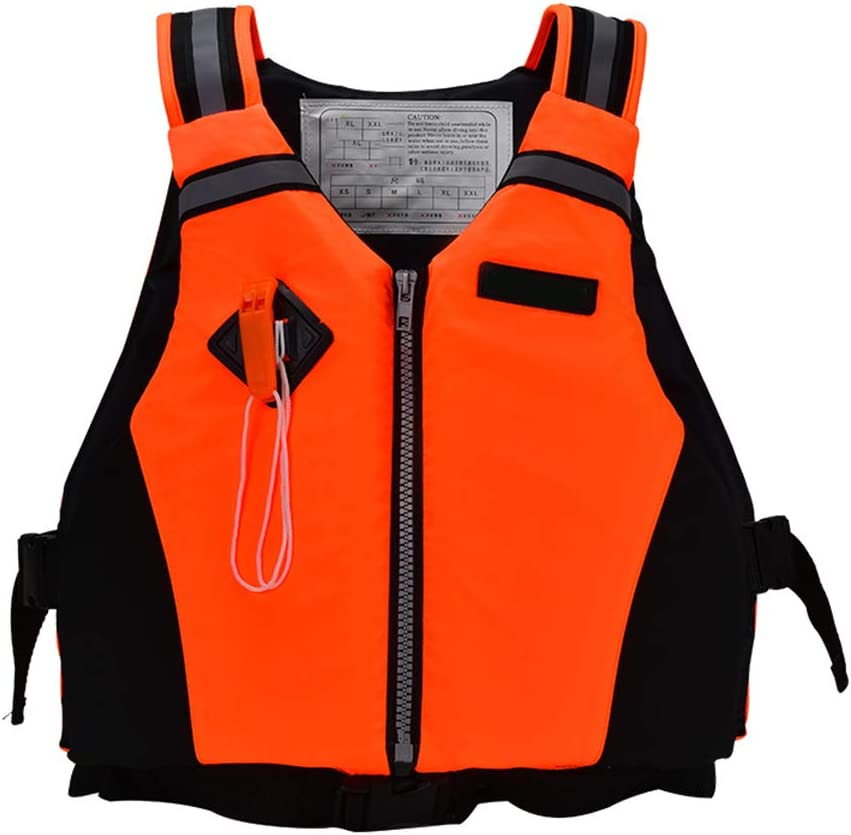 Unisex-For Water Sports Drifting Surfing Swimmers and Non Swimmers Buoyancy Vest Aid With Whistle Ourine Professional Classic Sport Comfort Swimming Buoyancy Life Jacket Vest