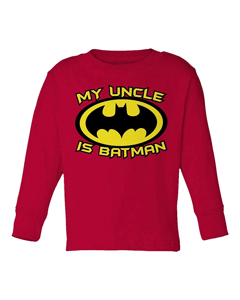 Societee My Uncle is A Bat Cute Funny Superhero Girls Boys Toddler Long Sleeve T-Shirt