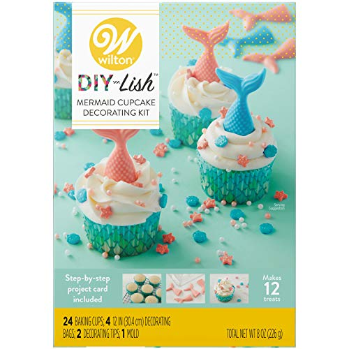 Wilton DIY-Lish Mermaid Cupcake Decorating Kit -