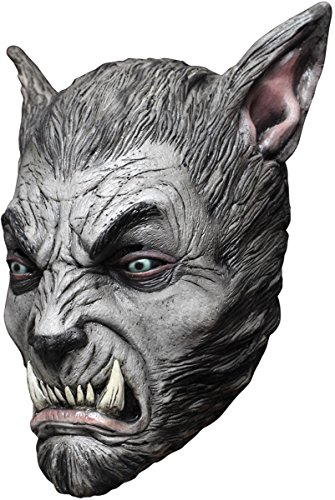 Beast Silver Wolf Latex Mask (Morris Costumes Ghoulish Productions Beast Silver Wolf Latex Mask)