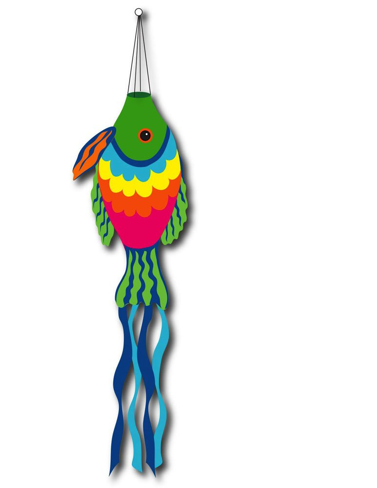 US Flag Store Rainbow Fish Sculpted Windsock