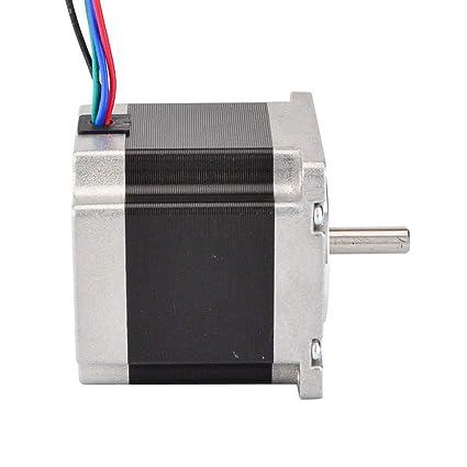 JoyNano Nema 23 Stepper Motor Bipolar 2.8A 1.26N.m Torque de retención 2-Phase 4-Wire 1.8 Deg 56mm Cuerpo para impresora 3D o máquina CNC: Amazon.es: Industria, empresas y ciencia