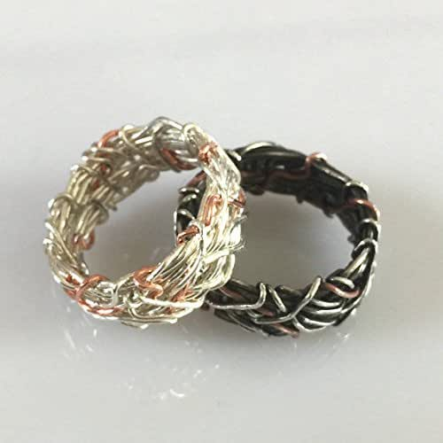 Amazon.com: His and Hers Sterling Silver and Copper Yin