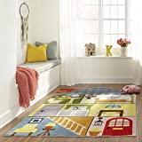Momeni Rugs LMOJULMJ23MTI4060 Lil' Mo Whimsy Collection, Kids Themed Hand Carved & Tufted Area Rug, 4' x 6', Multicolored Rooms