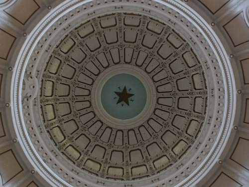 Framed Art for Your Wall Capitol Architecture Texas Lone Dome Star Vivid Imagery 10 x 13 Frame