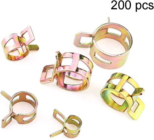 4mm~22mm Dia Fuel Line Hose Spring Clips Water Pipe Air Tube Clamps 10PCS