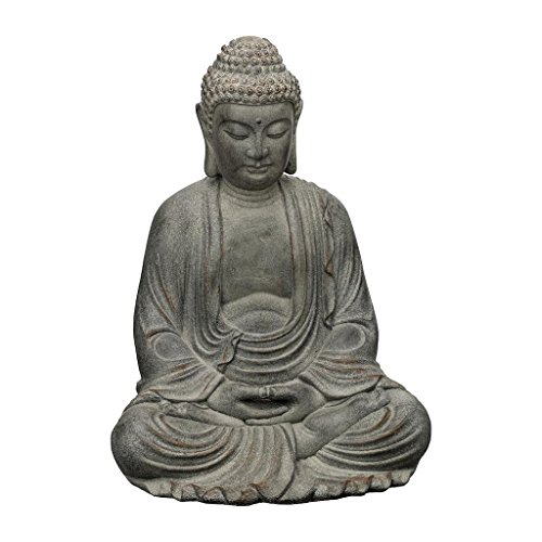 (Regal Art & Gift Buddha 17.25 inches x 15 inches x 23 inches Magnesium Oxide Statue - Stone Garden Statuary)