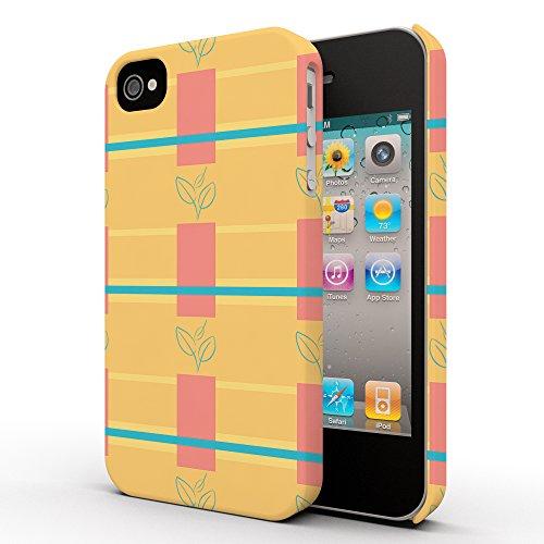 Koveru Back Cover Case for Apple iPhone 4/4S - Green leaf floral