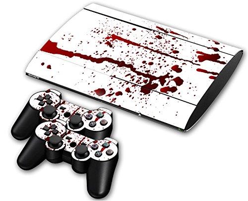 CSBC Skins Sony PS3 Super Slim Design Foils Faceplate Set - Blood Design