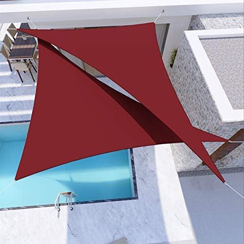 Windscreen4less Terylene Waterproof Sun Shade Sail UV Blocker Triangle Sunshade Patio Canopy Sail 15' x 20' x 25'
