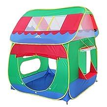 Remeehi Red Kids Toys Fun Big Play Tent Playhouse Basket Hut Play Pit Balls Pool