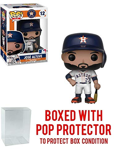 Funko POP! Sports MLB Houston Astros Jose Altuve Action Figure (Bundled with Pop Box Protector to Protect Display ()
