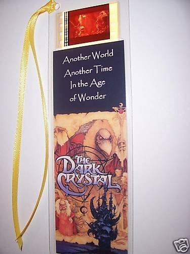 DARK CRYSTAL movie film cell bookmark memorabilia collectible disney animation