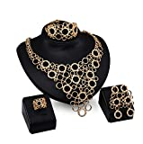 Bridal Nigerian Wedding African Beads Jewelry Set Crystal 18k Gold Plated Jewelry Wedding Party