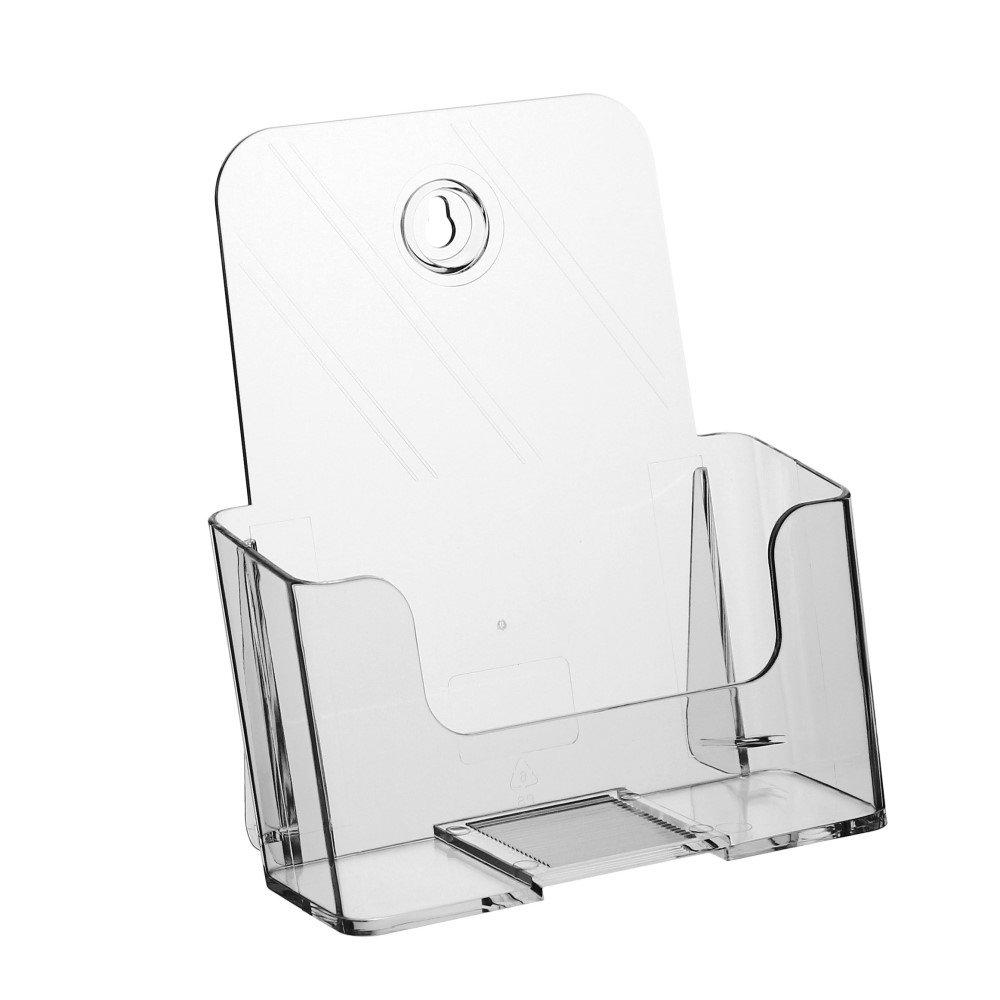 Tischprospekthalter DIN A5 Prospekthalter Tischaufsteller mit gro/ßer F/ülltiefe Prospektst/änder
