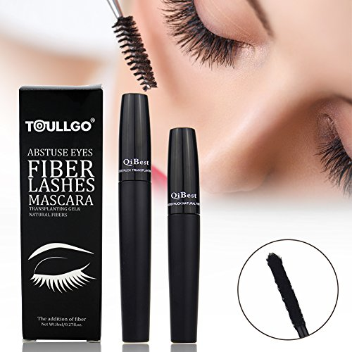 Best Lash Lengthening Mascara (3D Fiber Lash Mascara, 3D Fiber Lashes, 3D Fiber Mascara Best for Thickening & Lengthening, Long Lasting, Waterproof Smudge Proof & Hypoallergenic Ingredients, Non-toxic and Natural)