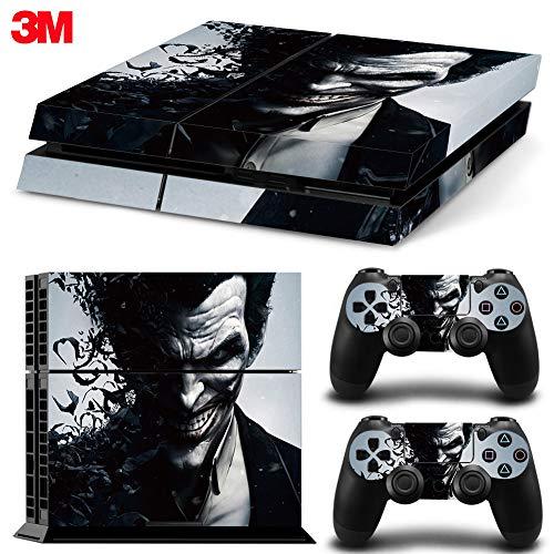ZOOMHITSKINS PS4 Skin Decal Sticker Joker Custom Design + 2 Controller Skins Set